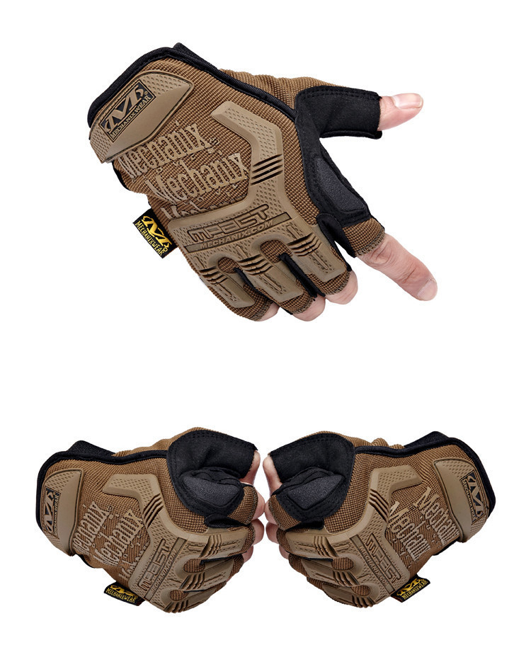 MECHANIX CS Airsoft Tactical Gloves US Navy Seal Army Military Outdoor Men's Short Finger Motorcycle Cycling Bike Leather Gloves