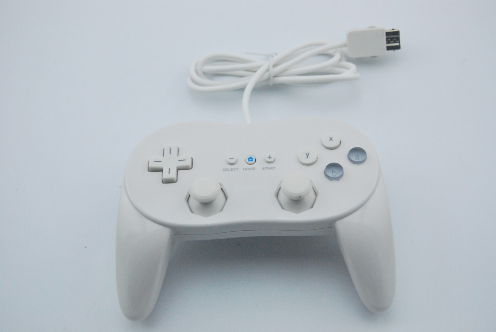 Black & White Classic Wired Game Controller For Wii Gaming Remote Pro Gamepad Shock Joypad Joystick For Nintendo Wii Accessories