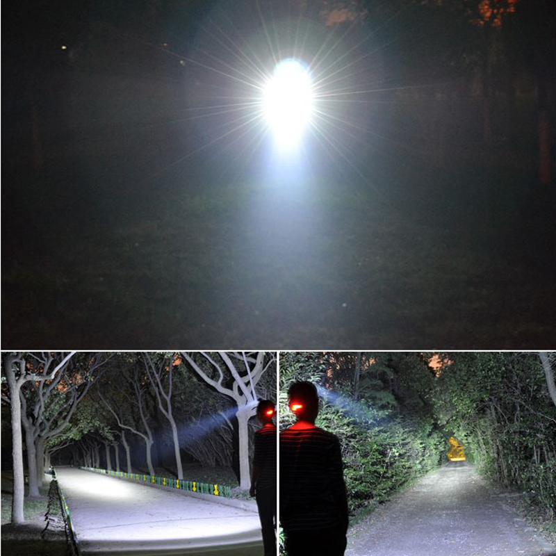 6000Lm CREE XML T6+2R5 LED Headlight Headlamp Head Lamp Light 4-mode torch +2x18650 battery+EU/US Car charger fishing Lights - Pomato Technology Co., Limited store