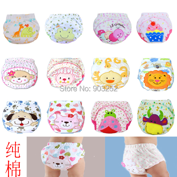 21pcs/lot- 12 designs Animal prints Baby training pants/Cartoon Infant waterproof cotton pants/Character kids underwears(China (Mainland))