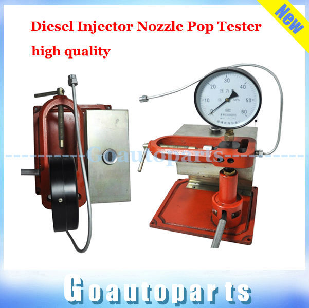 Free Shipping Diesel Injector Nozzle Pop Tester -Heavy Duty,SS Body 0-600 Bar/PSI Dual Gauge crs fuel injector test high quality(China (Mainland))