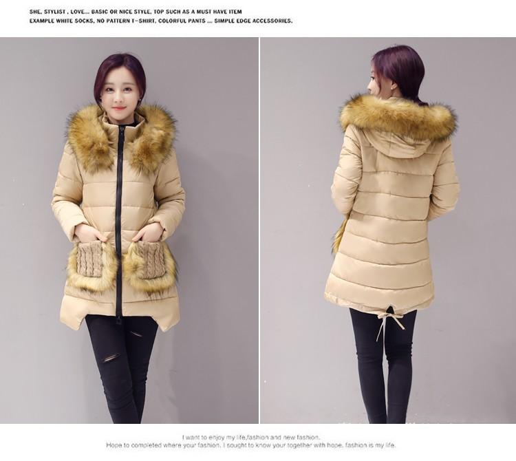 New Winter Fashion Women Down jacket Hooded Thick Super warm Medium long Coat Long sleeve Irregular Slim Big yards Parkas NZ370