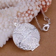 Buy wholesale silver plated pendant,925 fashion Silver jewelry photo frame pendants necklace women/men +chain SP167 for $1.23 in AliExpress store