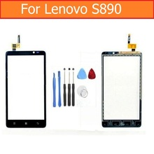 """Black and White 100% New Top quality Touch Screen Digitizer Assembly For Lenovo S890 5.0"""" Touch screen with Flex + Repair TOOLS(China (Mainland))"""