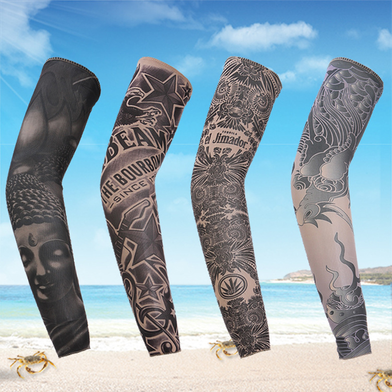 man tattoo arm warmers fashion venda quente de moda de nova finas Punk UV Tamporary tema tatuagem falsa mangas aquecedores(China (Mainland))