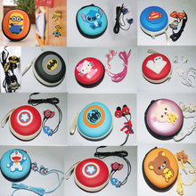 2016 new anime cartoon in-ear wired 3.5mm earphone Kitty headphone Despicable Me Minions model headset for MP3 MP4 Mobile phones