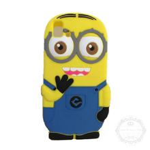 Lovely 3D Cute Cartoon Despicable Yellow Minions Soft Silicon Case Back Cover BQ Aquaris E5 3G 4G Phone Bag - Global Trading Co., LTD store