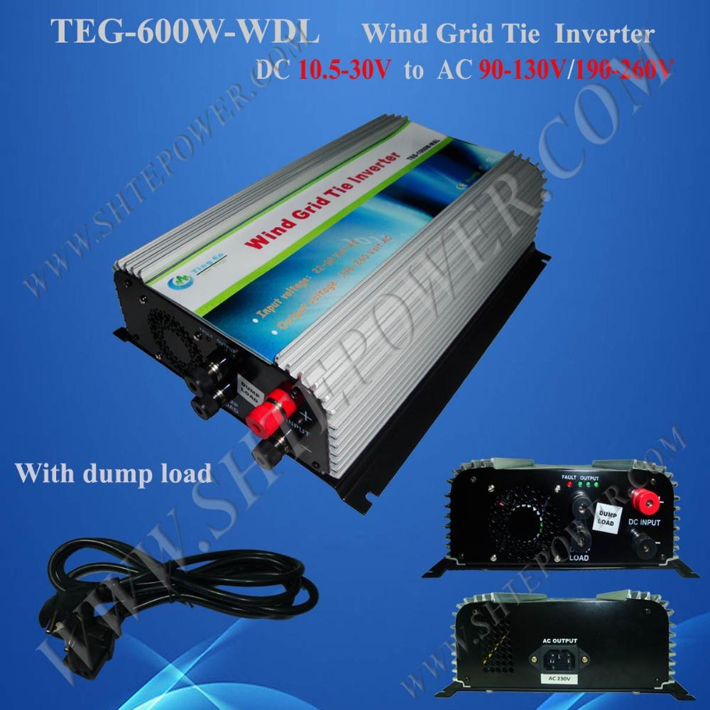600W Wind Grid Tie Inverter DC 10.5-30V to AC 190-260V(China (Mainland))