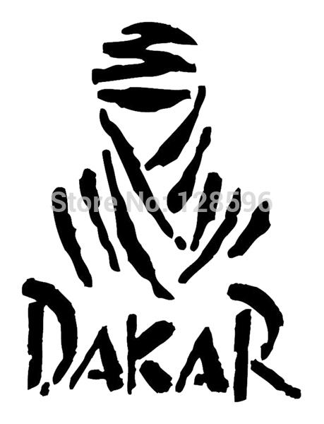 "Hot Sale Dakar Rally 4""X5"" Sticker Car Window Truck Bumper Auto Door Laptop Funny Vinyl Decal 9 Colors(China (Mainland))"