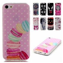 Ultra Thin cartoon Soft Silicone TPU Case For Iphone 5C 5 C Mobile Phone Protective Back Cover Case