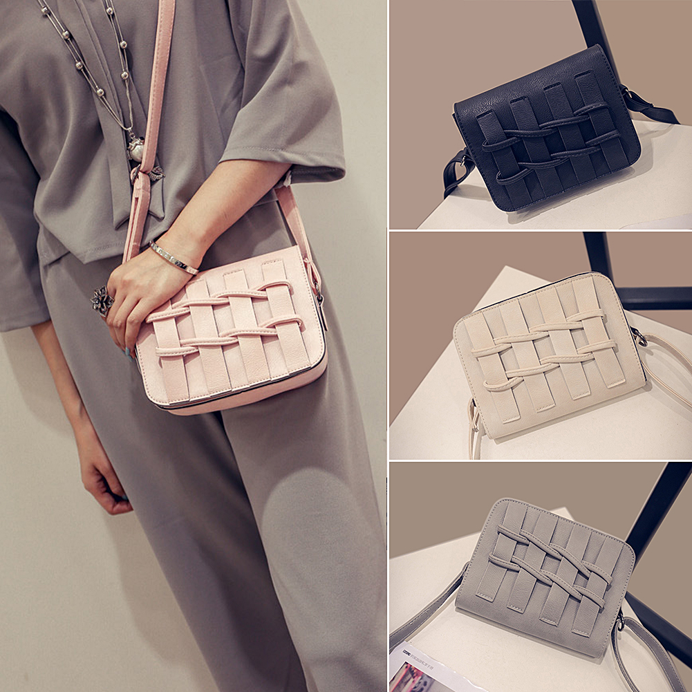 Solid color Small package portable bag women tassel messenger bag female shoulder bags hot sale faux leather bag(China (Mainland))