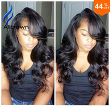 Seckill !Big Discount! Full Lace Human Hair Wigs For Black Women(China (Mainland))