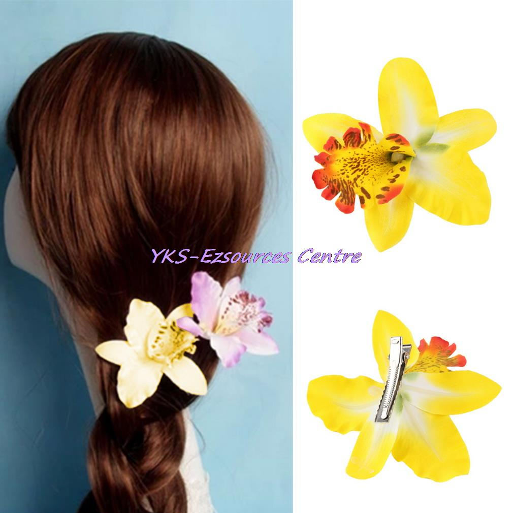 hot sale Bohemia Orchid Peony Flowers Hair Clips Hairpin Corsage Headwear Fashion Accessories(China (Mainland))