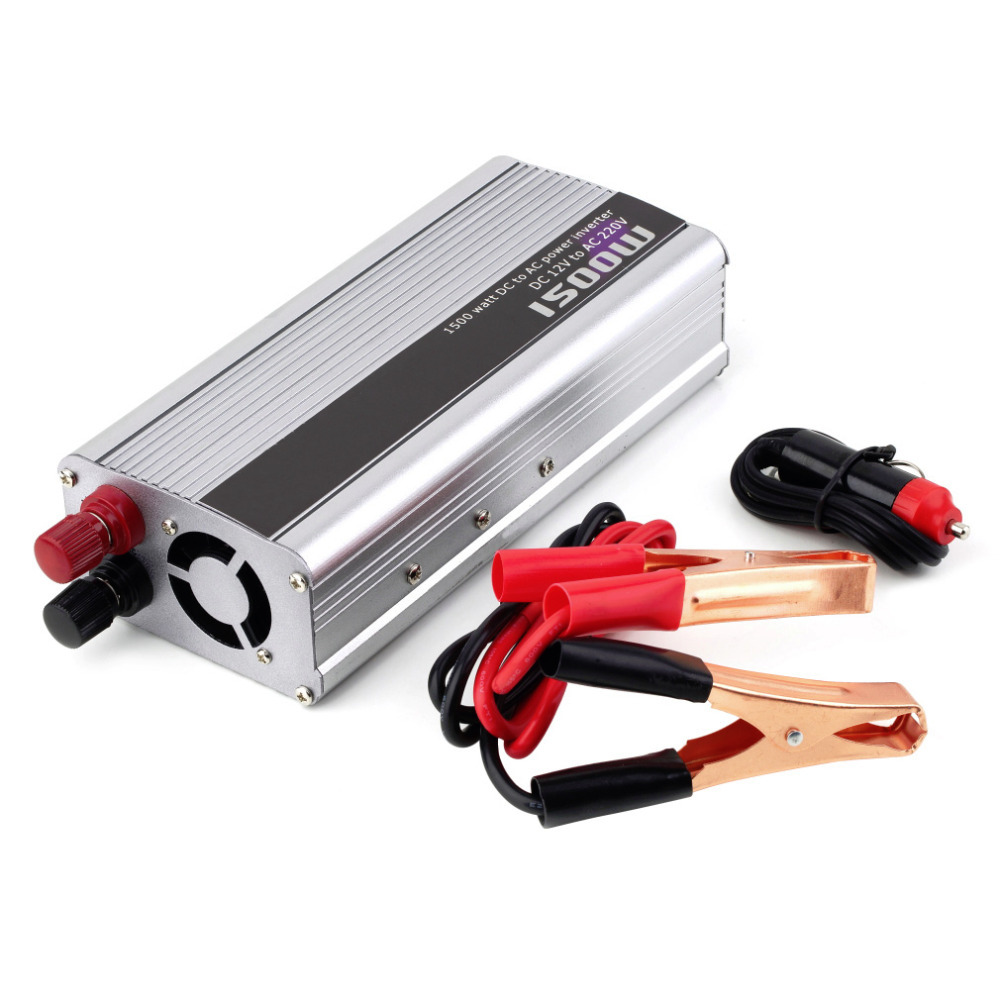 1Set 1500W Car DC 12V to AC 220V Power Inverter Charger Converter for Electronic Hot Worldwide<br><br>Aliexpress