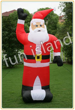 Free shipping Outdoor Inflatable Christmas Hunter Santa Inflatable Father Christmas Family Celebration(China (Mainland))