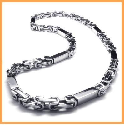 stainless steel silver cool mens necklace 10018835 jpg