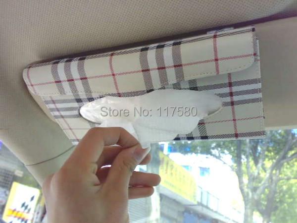 The ultra-thin Car visor Tissue Box / set folder / with napkins replaceable hanging pumping tray of the car sun visor(China (Mainland))