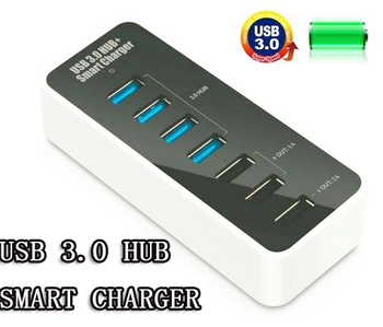 4 Ports USB 3.0 HUB + Smart Charger adapter for apple Samsung HTC Nokia LG Sony Other Mobile Device Free Shipping
