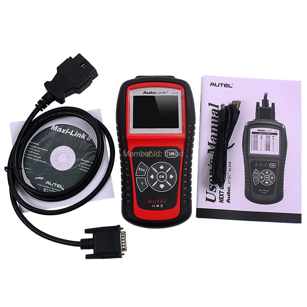 Autel Auto Link AL519 OBDII EOBD & CAN Auto Diagnostic Tool with Reads Live PCM Datastream Function(China (Mainland))