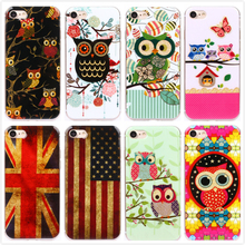 Buy Apple iPhone 7 Case Silicon Soft Bling Bling Shiny Glister Cute Owl Birds UK US Flag Skin iPhone 7 Plus Cover 11 Designs for $2.99 in AliExpress store
