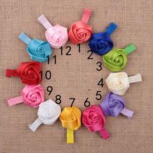 5PCS/1Lot Baby Girls Hairpins Rose Flower Hairclips Kids Infant Hair Accessories Headwear Birthday Gift Baby Headband Headwear(China (Mainland))