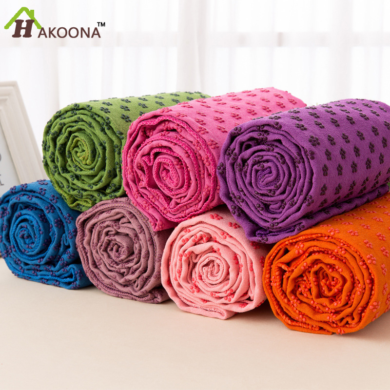 HAKOONA Microfiber Yoga Towel Pvc Yoga Towel Eco-Friendly Non-Slip Yoga Mats Thickened And Widened 61x183(China (Mainland))