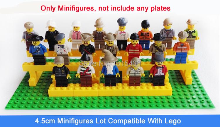 Kids DIY Toys Mini Fgiures Plastic Model Kits Building Blocks Bricks Parts 4.5cm Dolls Compatible Lego 20