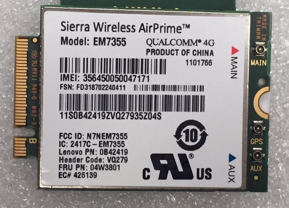 Sierra EM7355 Gobi5000 FRU 04W3801 LTE EVDO NGFF 4G WWAN Network Card for l440 l540 T431s T440 T440s T440p T540P W540 X240<br><br>Aliexpress