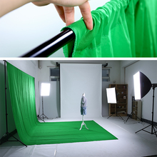 6ft x 9ft/1.8m x 2.7m Photo Studio Solid Muslin Backdrop Background Green PSB3C  Hot sales