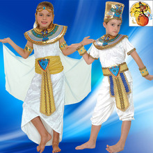 New arrivals Halloween cosplay costume Egyptian pharaoh Cleopatra costume for boy's Children party clothing set CXCC-0280(China (Mainland))