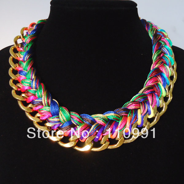 Big Chunky Necklaces Fashion Jewelry Exaggerated Fashion Big