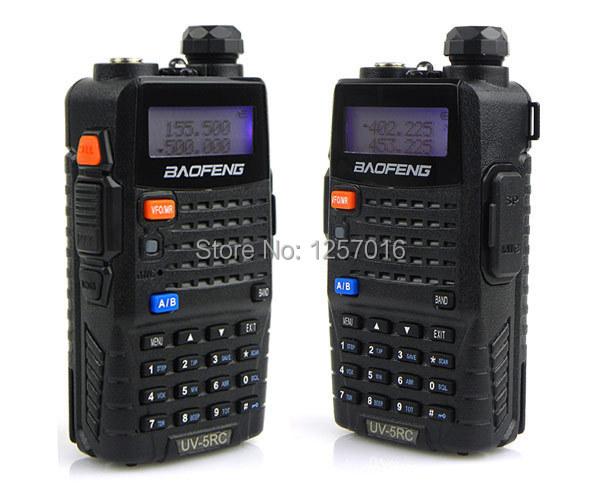 2pcs/lot Baofeng UV-5RC Walkie Talkie 128CH UHF&VHF Interphone Transceiver Two Way FM Radio Mobile Portable Handled CB Radio 5RC(China (Mainland))
