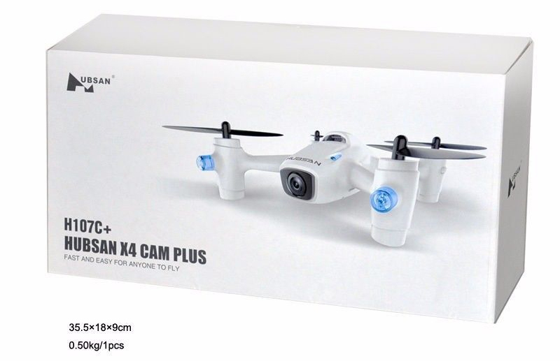 Free Shipping! Hubsan X4 Camera Plus H107C+ 2.4G 4CH 720P RC Drone Quadcopter w/Extra 2 Battery