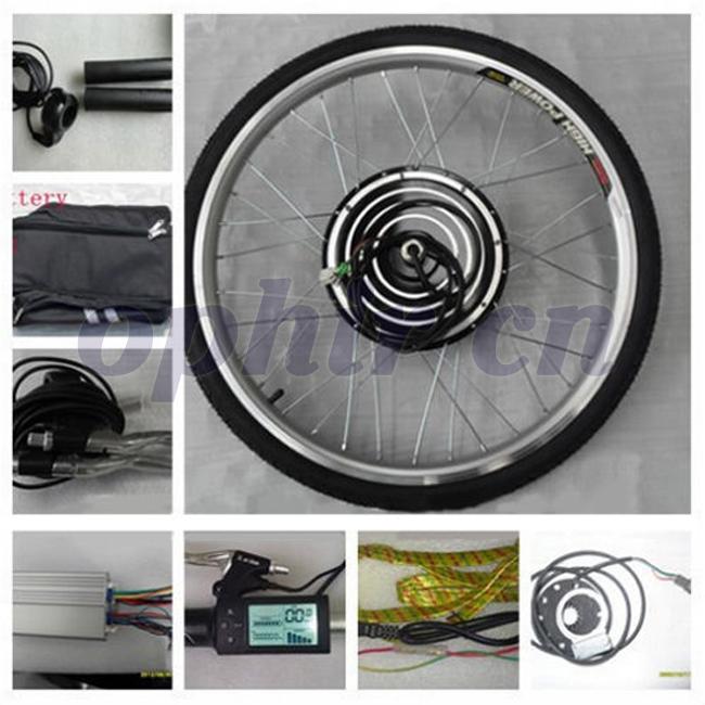 "2015 48V 1000W 26"" Front Wheel Electric Bicycle LCD Display Motor E-Bike Conversion Kit & Battery Brushless Gear Hub Motor_MR005(China (Mainland))"