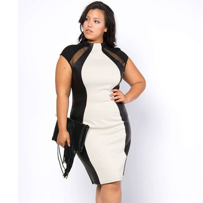2016 Women Summer Dress Large Size Sexy Package Hip Mesh Womens Clothing Night Club Party Dress Plus Size For Fat MM DYF47(China (Mainland))