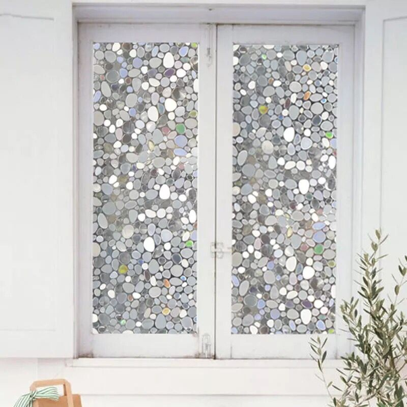 45 100cm colorful pebbles glass window film window for Stickers fenetre opaque