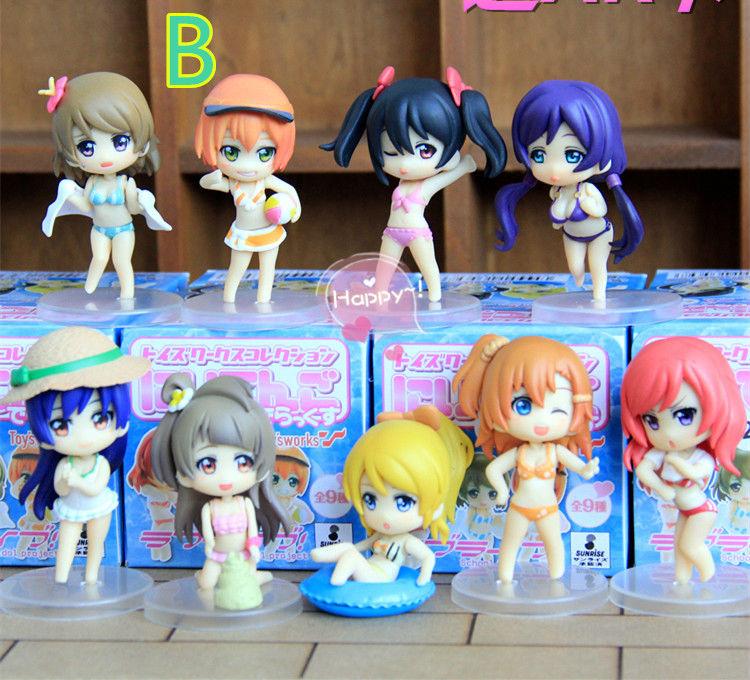 9 pcs Lovelive figure set Kotori Nozomi Hanayo Ayase Honoka Rin Maki Umi mini dolls 10cm pvc anime girl  free shipping<br><br>Aliexpress