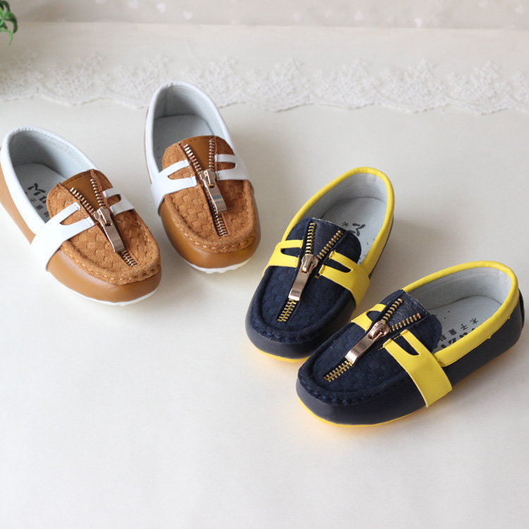 Child gommini loafers male child children shoes male genuine leather single shoes baby shoes children shoes children