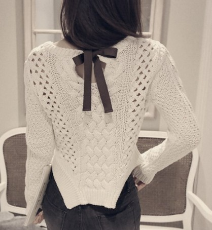 2014 new fahion autumn winter women bottoming pullovers irregular sweater hem long-sleeved hollow sweater(China (Mainland))