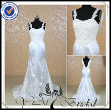 RQ019 Spaghetti Straps Keyhole Back Fat Size Vintage Lace Wedding Dress(China (Mainland))