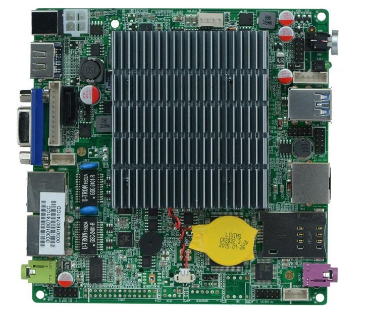 Nano itx motherboard fanless mini pc motherboard 12V J1900 CPU USB3.0(China (Mainland))