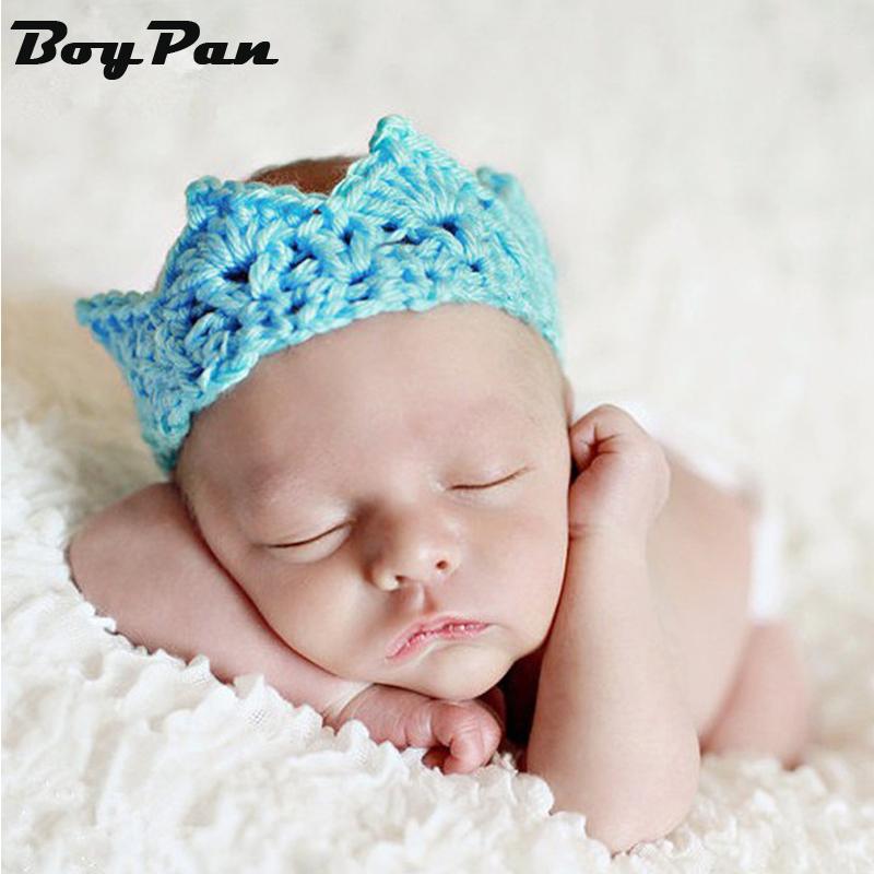 Knitting Crown Newborn Photography Props Cute Baby Caps Soft Baby Hat Baby Infant Headband Crochet Newborn Hats<br><br>Aliexpress