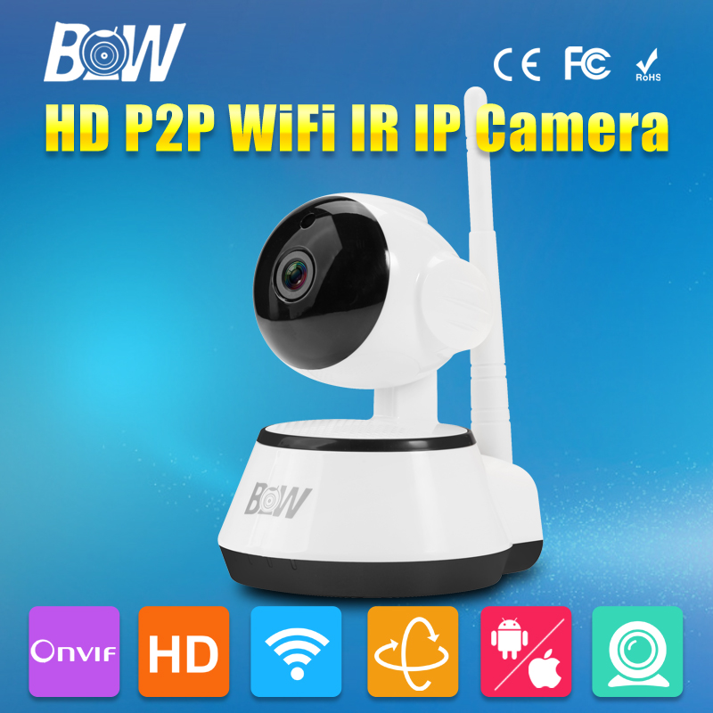 BW Mini Dome Wifi IP Camera Wireless Smart P2P Baby Monitor IR Cut Filter Megapixel Lens Surveillance CCTV Security Camera HD(China (Mainland))