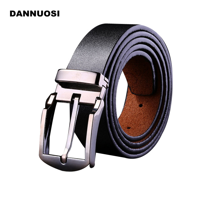 [DANNUOSI]2016 new men's belt pin buckle belt 100% pure leather belt men's high quality belts jeans brand(China (Mainland))