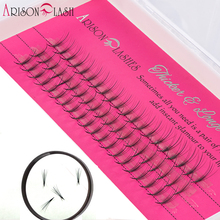 Buy lashes extension 12mm 3D eyelashes new styles 1/ps cluster individual lashes 60Clusters professional makeup false ellipse flat for $6.08 in AliExpress store