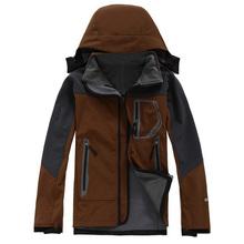 2015 New Brand Winter Hiking Jacket Men Windstopper Softshell Jacket Men Waterproof Windproof Outdoor Jacket(China (Mainland))