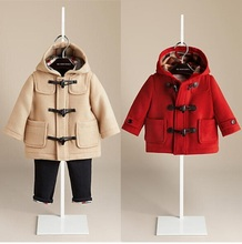 Brand Fashion Cashmere Baby Boys and Girls Winter Warm Coat Children Outwear Windproof Warm Woolen Girls Clothes For 2-6T(China (Mainland))