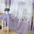 Simplife Tulle Window Translucidus Voile Curtain Elegant Tulip Flora Voile Drape for Living Room Bedroom Kitchen