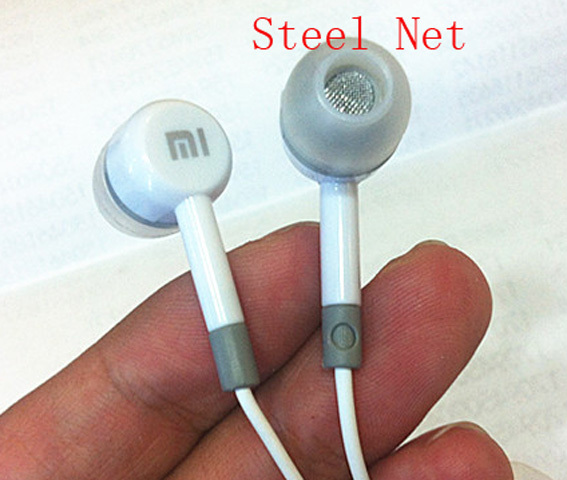Original Xiaomi Steel Net 3.5mm in-Ear Stereo earphone headphone headset With Mic For Android iphone 4 5 6 Samsung HTC iPod M1 2(China (Mainland))