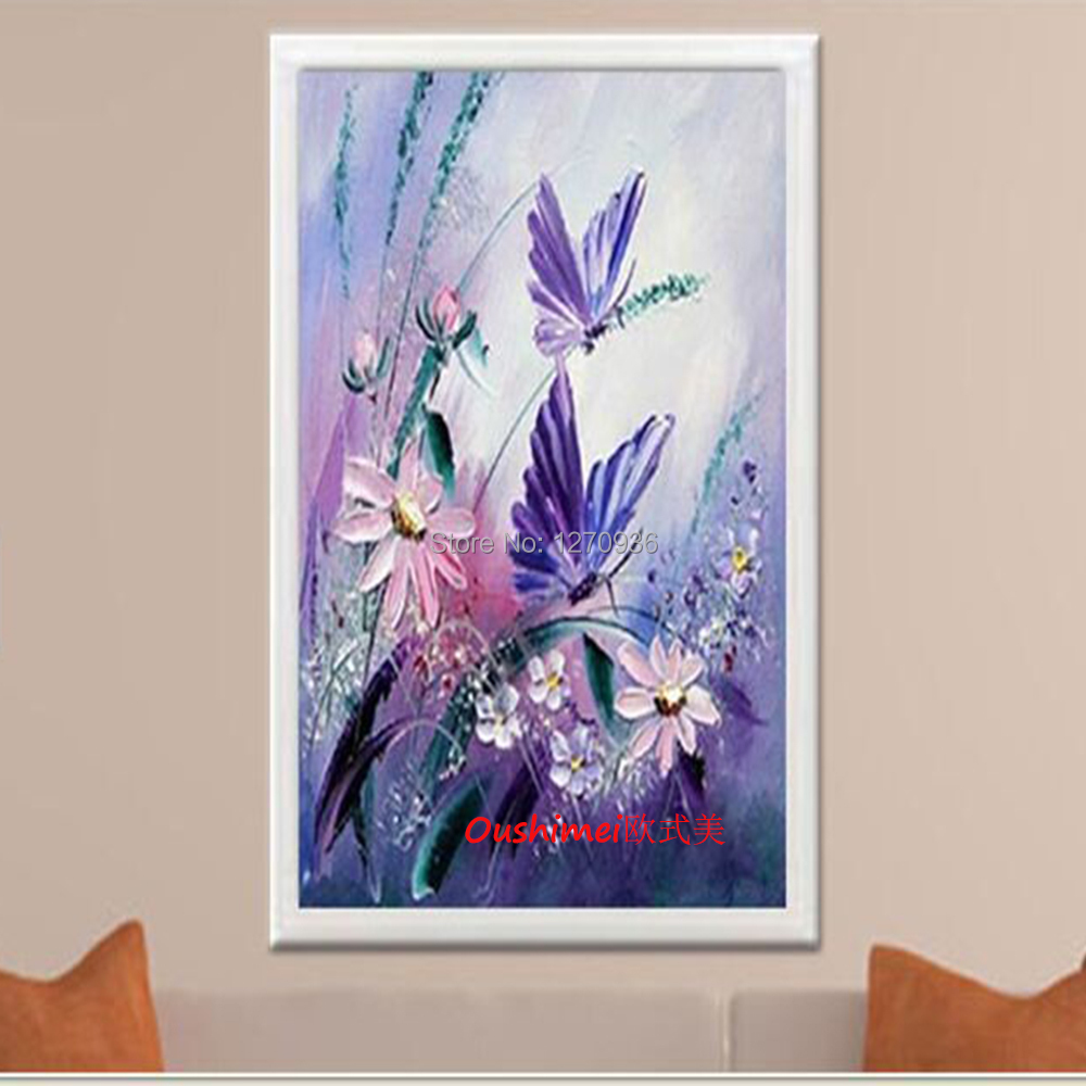 Knife Flower Picture Home Decor Hang Oil Paintings Hand